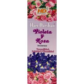 incienso violeta y rosa darshan