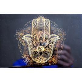 Caja Laminada Mano Buddha