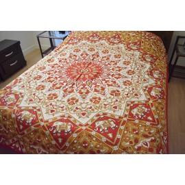 Cubre cama mandala rojo