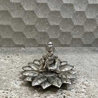 porta incienso buddha flor aluminio