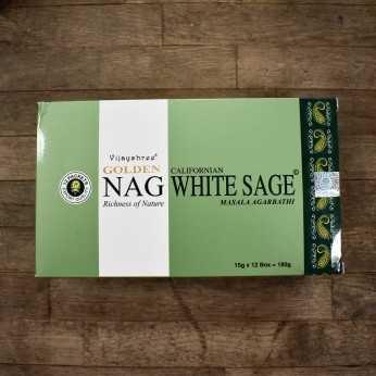Incienso Golden Nag White Sage